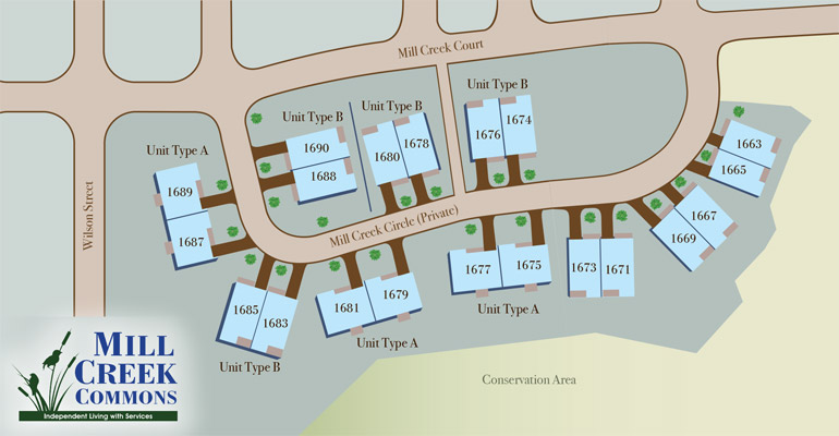 Mill Creek Commons map