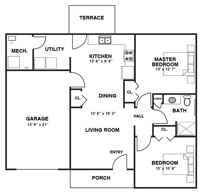 Unit C floorplan